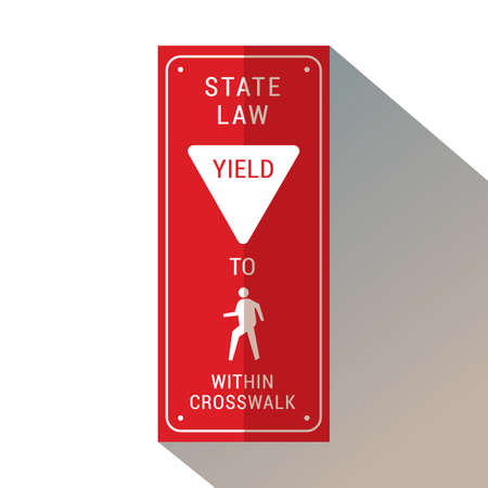 Yield to pedestrian within crosswalk.