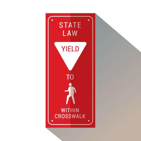 Yield to pedestrian within crosswalk.