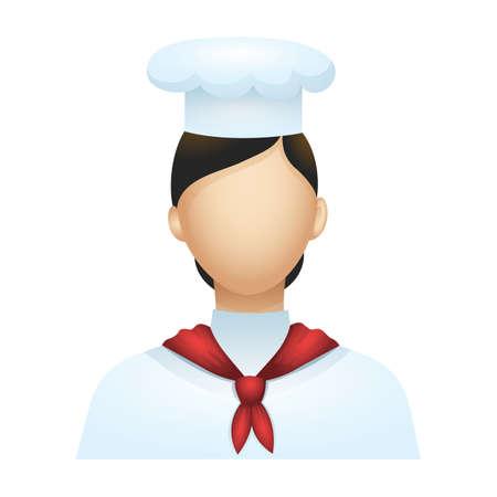 lady sailor Vector Illustration