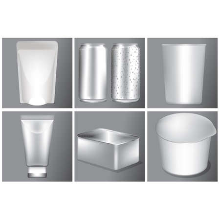 baking dish: collection of blank containers Illustration