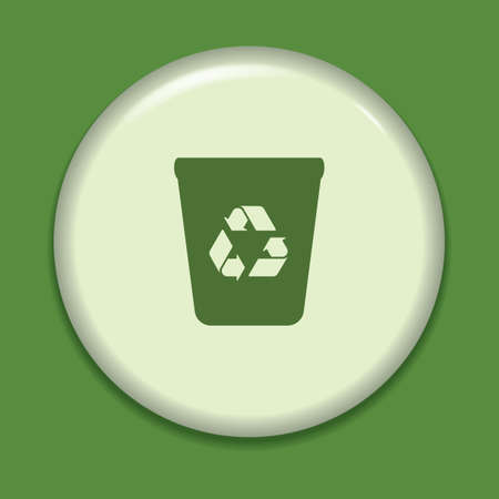 papelera de reciclaje: icono de la papelera de reciclaje Vectores