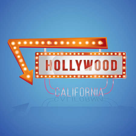 hollywood   california: hollywood california Illustration