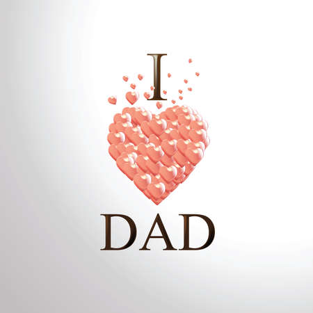 happy father's day greeting card Фото со стока - 81485035