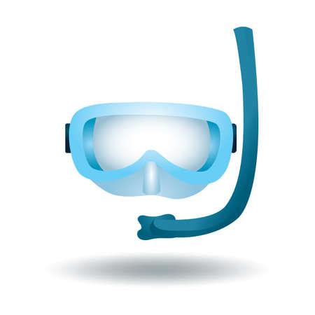 swim goggles: snorkel Illustration