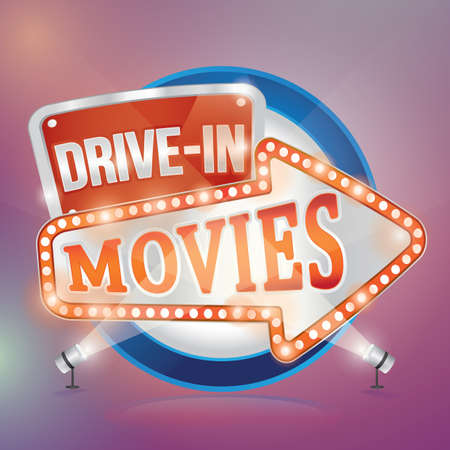 drive in movies Ilustrace