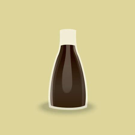 sauce: soya sauce bottle