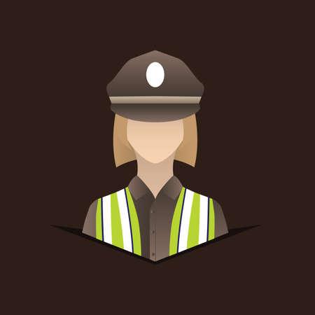 femme policier: polici�re Illustration