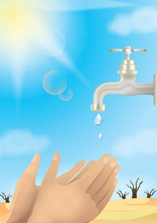 concept: save water concept