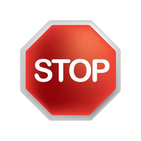 一時停止の道路標識  イラスト・ベクター素材