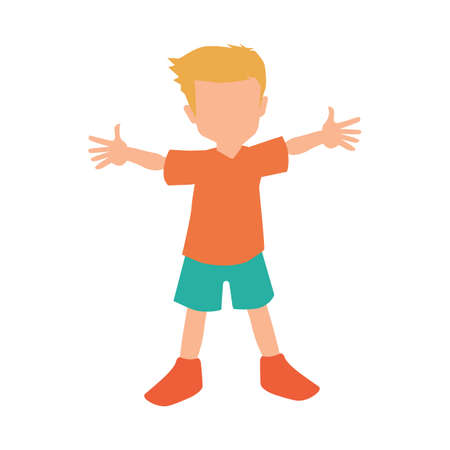 arms open: boy with open arms