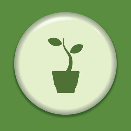potted plant: potted plant icon Illustration