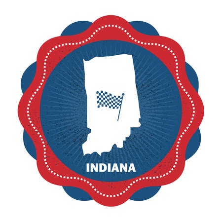 checker flag: indiana state map