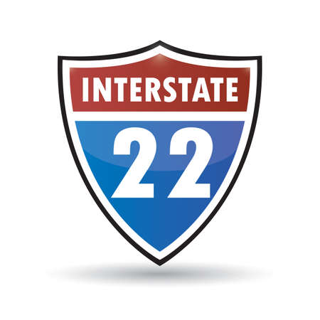 interstate: interstate 22 Illustration