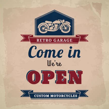 garage: garage open sign