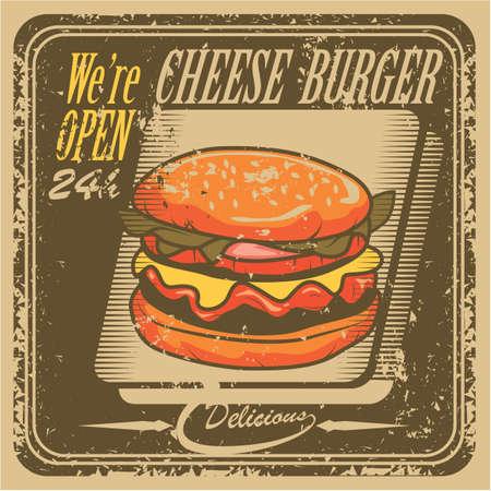 open sign: burger store open sign