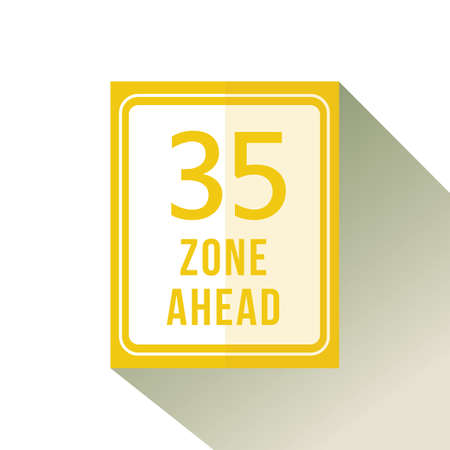thirty five zone ahead