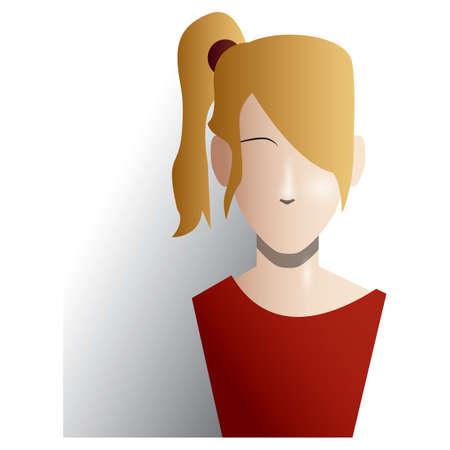 hairstylist: woman Illustration