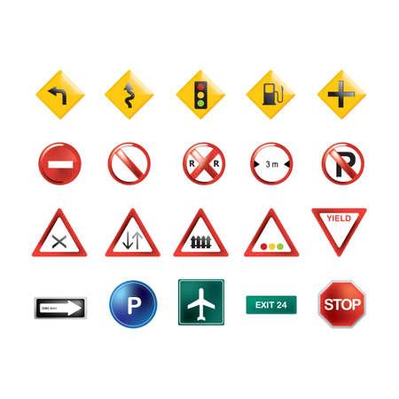 Collection de panneaux de signalisation Banque d'images - 81485039