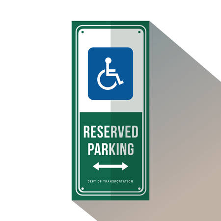 reserved parking for handicapped Foto de archivo - 106669707