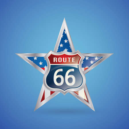 66: route 66 badge