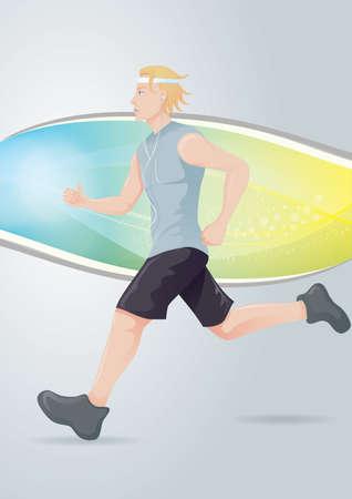 human being: boy jogging