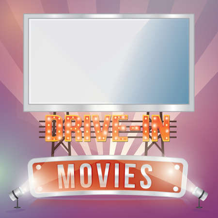 drive in movies  イラスト・ベクター素材