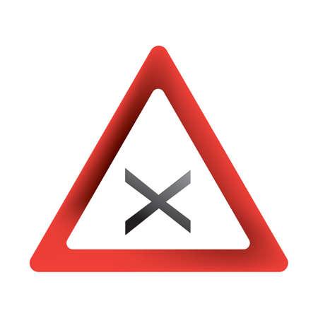 cross road sign 向量圖像