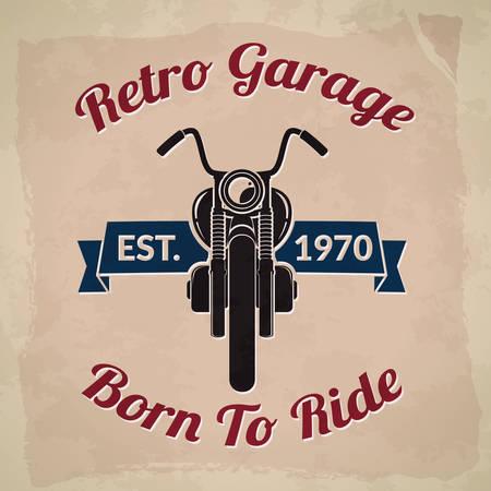 retro: retro garage Illustration