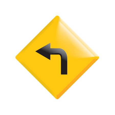 Aller à gauche panneau de signalisation Banque d'images - 81485042