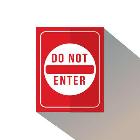 do not enter sign Foto de archivo - 106669717