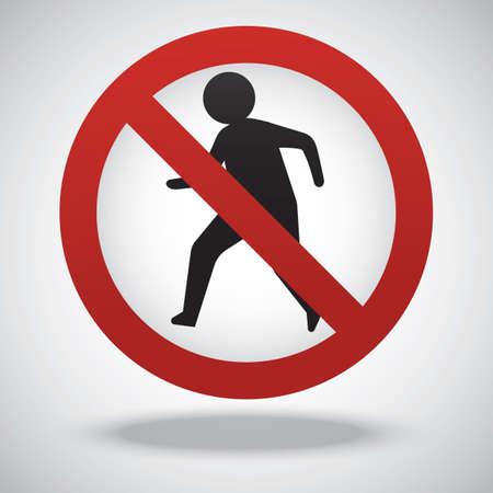 pedestrians: no pedestrians sign