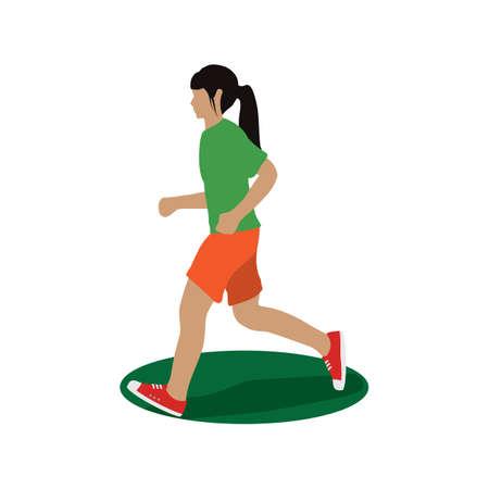 girl: girl running