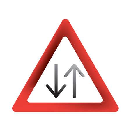 双方向の道路標識