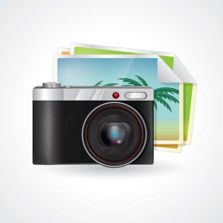 photographs: camera with photographs Illustration