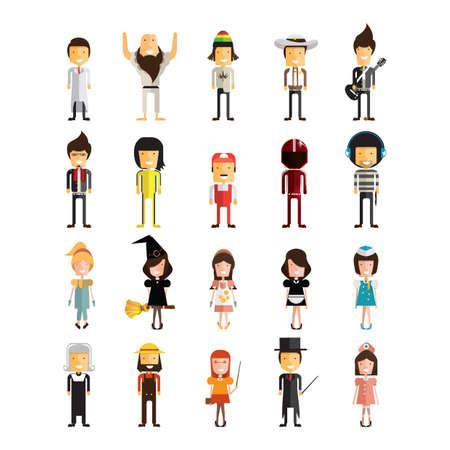 set of professional people  イラスト・ベクター素材