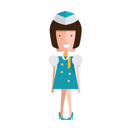 air hostess Illustration