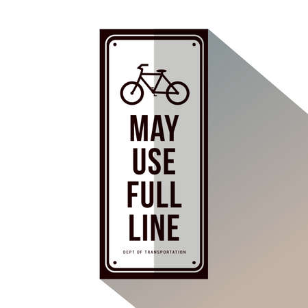 bicycle may use full lane
