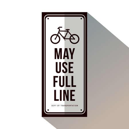 bicycle may use full lane