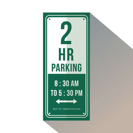two-hour parking 向量圖像