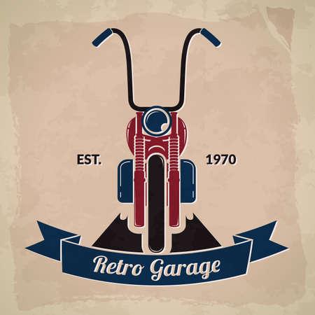 garage: retro garage Illustration