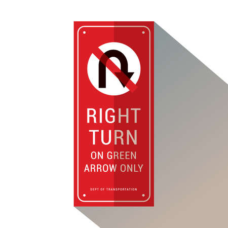 right turn on green arrow only