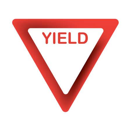 도로 표지판을 양보하다