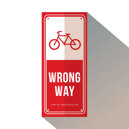 bicycle wrong way