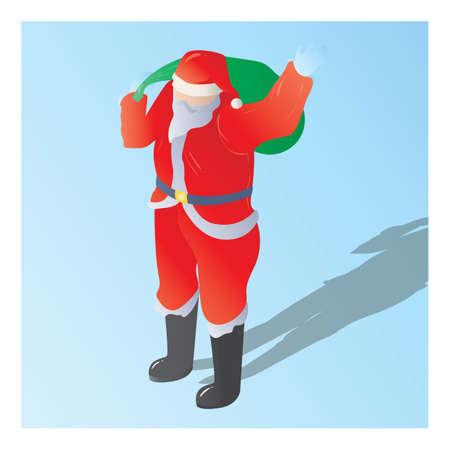 산타 클로스의 아이소 메트릭 일러스트