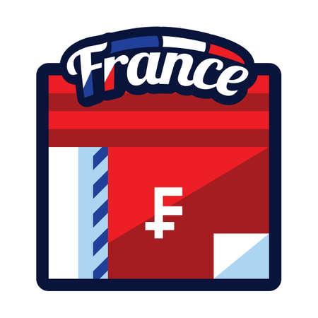 france cash Ilustracja