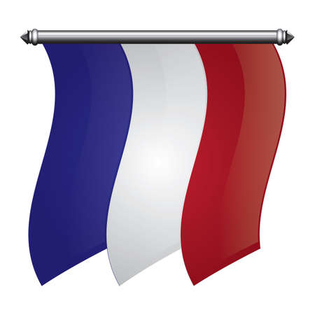 Frankreich flagge pennant Standard-Bild - 81485072