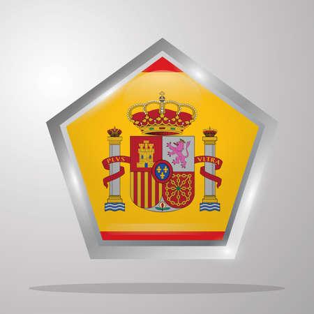 Spanje vlag knop