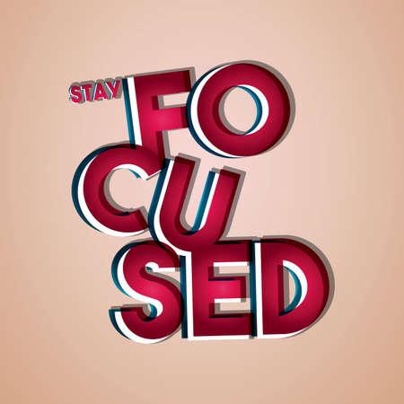 stay focused  イラスト・ベクター素材