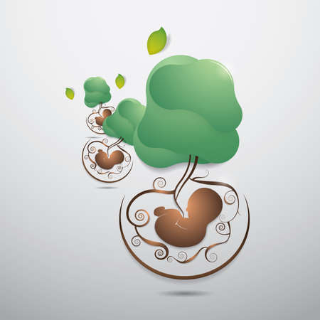ecology wallpaper Ilustracja