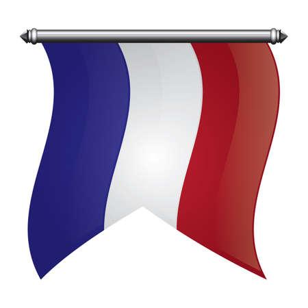 Bandera bandera francia Foto de archivo - 81485085